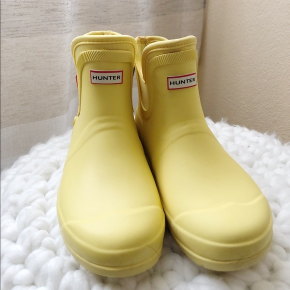 14635f21c2b Hunter For Target Yellow Ankle Boots NWT